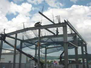 事業用 大型倉庫の工事現場